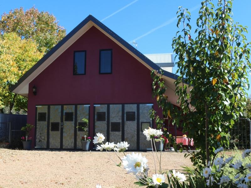 front magenta cottage